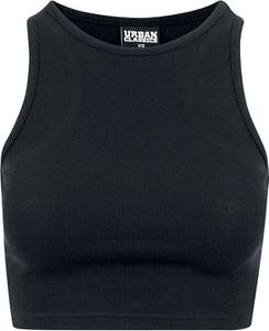 Czarny top Emp w stylu casual z bawełny