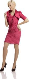 Sukienka Fokus w stylu retro mini z dekoltem w kształcie litery v