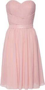 Różowa sukienka Mascara mini bez rękawów
