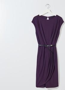 Fioletowa sukienka Mohito z okrągłym dekoltem bez rękawów