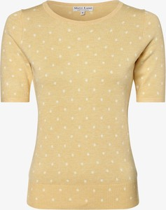 Żółty sweter Marie Lund w stylu casual z dzianiny
