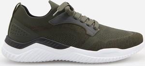 Zielone buty sportowe Reserved sznurowane