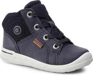 Buty dziecięce zimowe Ecco sznurowane