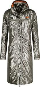 Srebrny płaszcz Ellesse w stylu casual