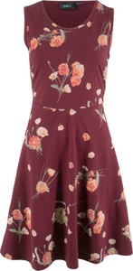Czerwona sukienka bonprix bpc bonprix collection rozkloszowana