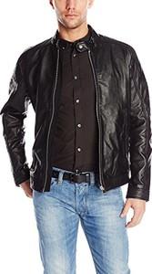 Brązowa kurtka Diesel w stylu casual ze skóry