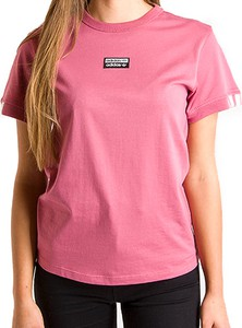Różowa bluzka Adidas z bawełny