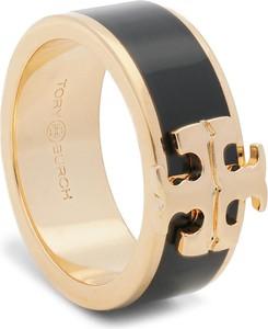 Pierścionek TORY BURCH - Kira Logo Ring 60359 Tory Gold/Black 720