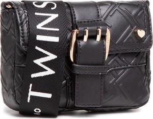 Czarna torebka Twinset na ramię matowa średnia