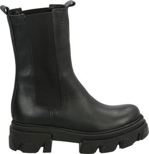 Czarne botki Venezia w stylu casual