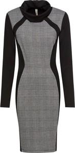 Sukienka bonprix BODYFLIRT boutique midi z długim rękawem dopasowana