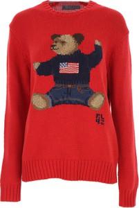 Czerwony sweter Ralph Lauren z lnu w stylu casual