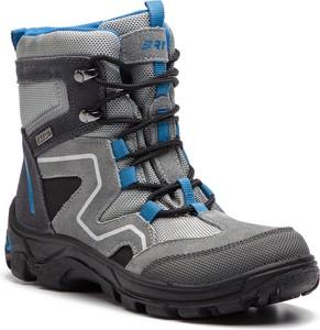 Buty dziecięce zimowe Bartek na rzepy ze skóry