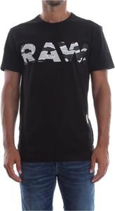 Czarny t-shirt G-star z bawełny