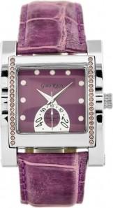 ZEGAREK DAMSKI GINO ROSSI - 6814A violet/silver Srebrny | Fioletowy