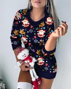 Sweter Kendallme w bożonarodzeniowy wzór