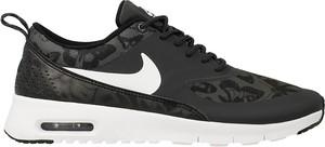 Czarne buty sportowe Nike air max thea w sportowym stylu sznurowane