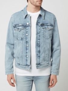 Niebieska kurtka Calvin Klein w młodzieżowym stylu krótka