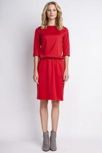 7a66e432ee czerwona sukienka świąteczna - stylowo i modnie z Allani
