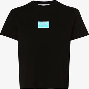 Bluzka Calvin Klein z okrągłym dekoltem z krótkim rękawem