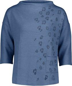 Niebieska bluzka Betty Barclay w stylu casual z okrągłym dekoltem
