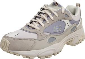 Buty sportowe Skechers sznurowane ze skóry