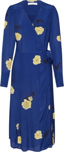 Sukienka Ivy & Oak z dekoltem w kształcie litery v midi z długim rękawem