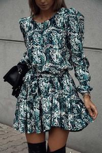 Sukienka lafemmeboutique.pl w stylu casual z długim rękawem z weluru
