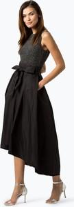 Czarna sukienka Lauren Ralph Lauren bez rękawów asymetryczna z okrągłym dekoltem