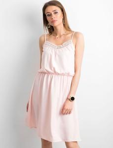 Sukienka Sheandher.pl mini z dekoltem w kształcie litery v na ramiączkach
