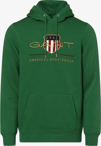 Zielona bluza Gant z dresówki w młodzieżowym stylu
