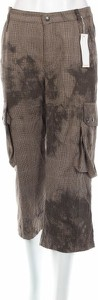 Brązowe spodnie MAC z nadrukiem w militarnym stylu