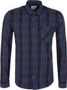 Niebieska koszula Q/s Designed By - S.oliver w stylu casual z długim rękawem