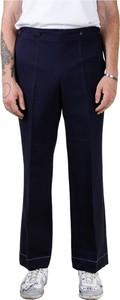 Niebieskie spodnie Maison Margiela z bawełny