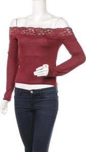 Bluzka H&M w stylu casual z długim rękawem z okrągłym dekoltem