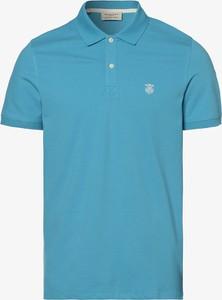 Niebieska koszulka polo Selected z krótkim rękawem w stylu casual