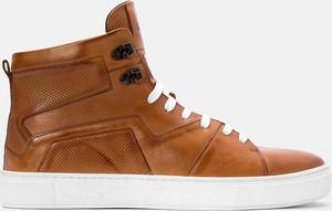 Kazar Brązowe sneakersy męskie