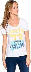 T-shirt Pepe Jeans z krótkim rękawem z dekoltem w kształcie litery v