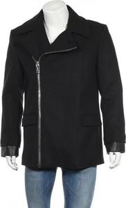 Czarny płaszcz męski Les Hommes