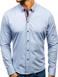Koszula Denley z bawełny z długim rękawem z klasycznym kołnierzykiem