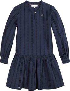 Niebieska sukienka dziewczęca Tommy Hilfiger