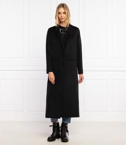 Czarny płaszcz Twinset w stylu casual