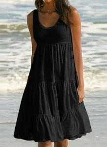Czarna sukienka Cikelly na ramiączkach mini w stylu boho