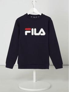 Granatowa bluza dziecięca Fila z bawełny