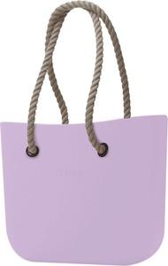 Fioletowa torebka O Bag matowa
