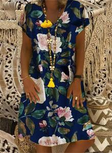 Sukienka Cikelly z dekoltem w kształcie litery v w stylu boho