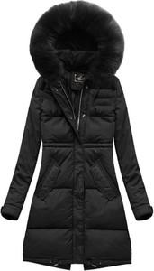Czarna kurtka Libland długa w stylu casual