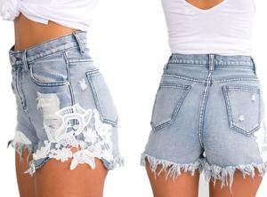 94b67a479a92 Szorty jeansowe • Damskie. Szorty Yaze w street stylu z jeansu