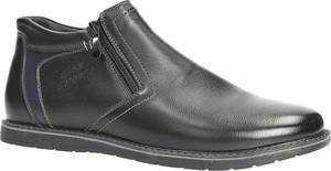 Czarne buty zimowe Casu na zamek