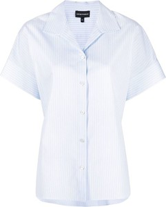 Niebieska koszula Emporio Armani w stylu casual z bawełny